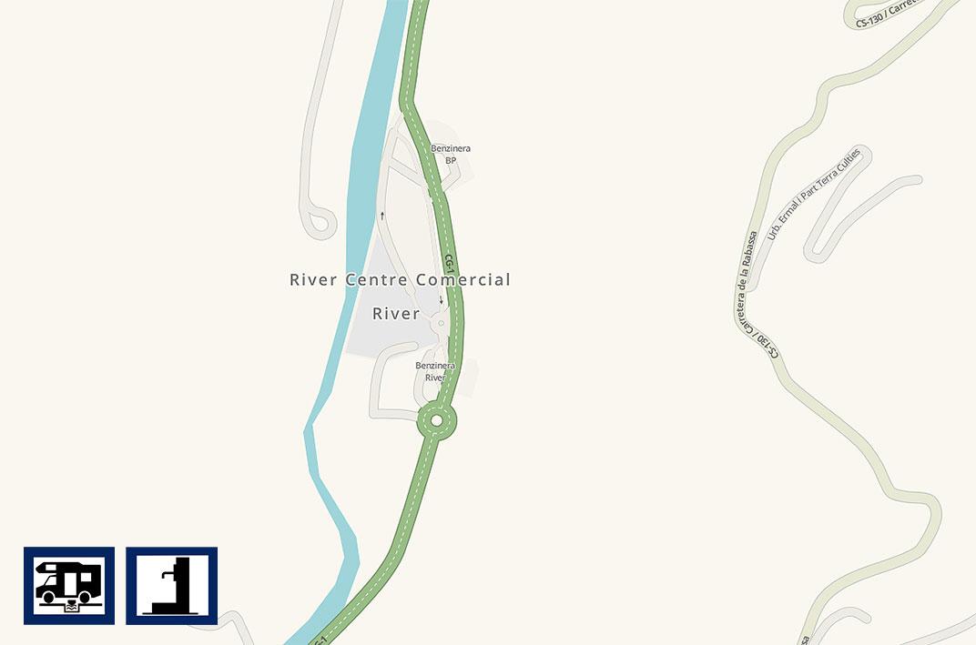 River Andorra · mapa waze
